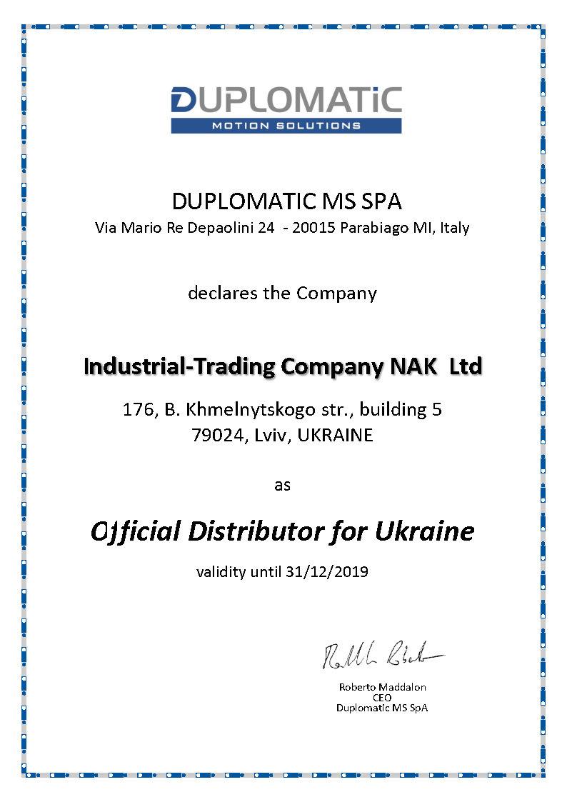 DUPLOMATIC 2019 Nak, Ukraine